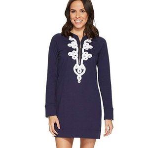 Lilly Pulitzer Skipper Popover Navy Zip Dress NWOT